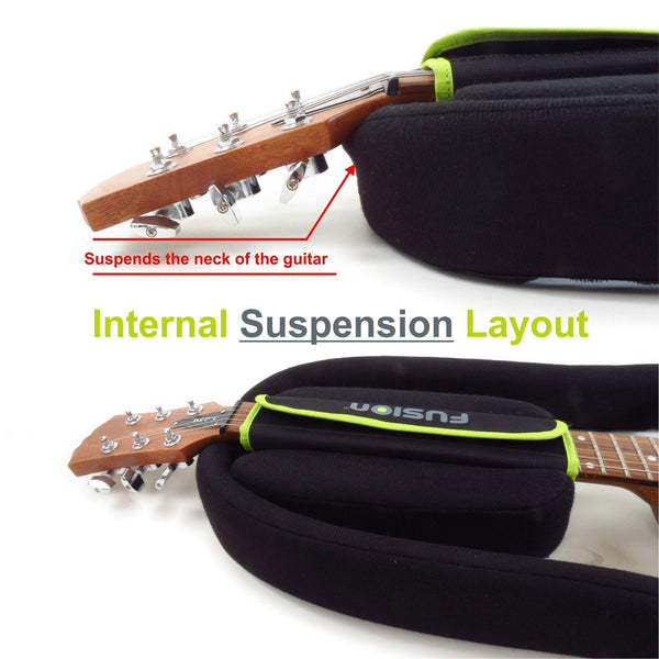 Internal suspension layout inside Urban Series Electric Guitar Gig Bag