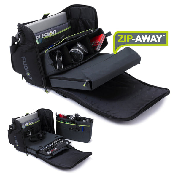 Workstation DJ gig bag zip away system 2