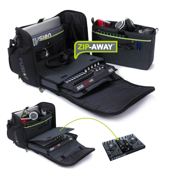 Workstation DJ gig bag zip away system 1