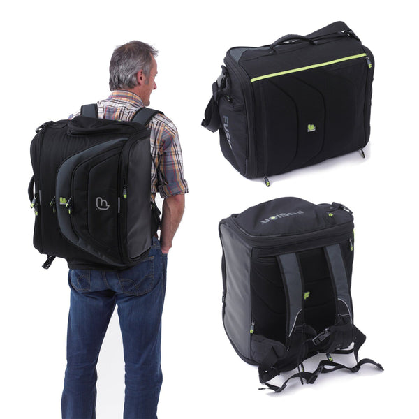 Workstation DJ gig bag backpack system