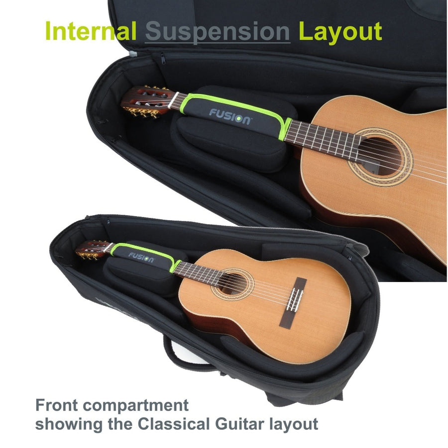 Gig Bag for Double Guitar Bag for Acoustic and Electric Guitars, Guitar and Bass Bags,- Fusion-Bags.com - Double Guitar Bag for Acoustic and Electric Guitars - Fusion-Bags.com