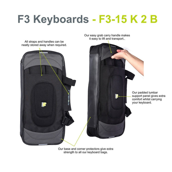 Gig Bag for Keyboard 02 (25-49 keys), Keyboard & Synthesizer gig bags,- Fusion-Bags.com - Keyboard 02 (25-49 keys) Gig Bag - Fusion-Bags.com