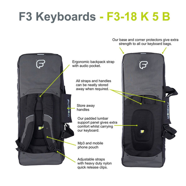 Gig Bag for Keyboard 05 (49-61 keys), Keyboard & Synthesizer gig bags,- Fusion-Bags.com - Keyboard 05 (49-61 keys) Gig Bag - Fusion-Bags.com