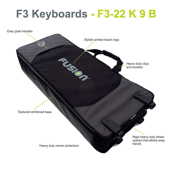 Gig Bag for Keyboard 09 (49-61 keys), Keyboard & Synthesizer gig bags,- Fusion-Bags.com - Keyboard 09 (49-61 keys) Gig Bag - Fusion-Bags.com