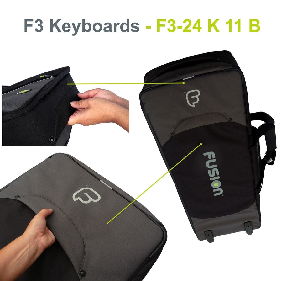 Gig Bag for Keyboard 11 (61-76 keys), Keyboard & Synthesizer gig bags,- Fusion-Bags.com - Keyboard 11 (61-76 keys) Gig Bag - Fusion-Bags.com