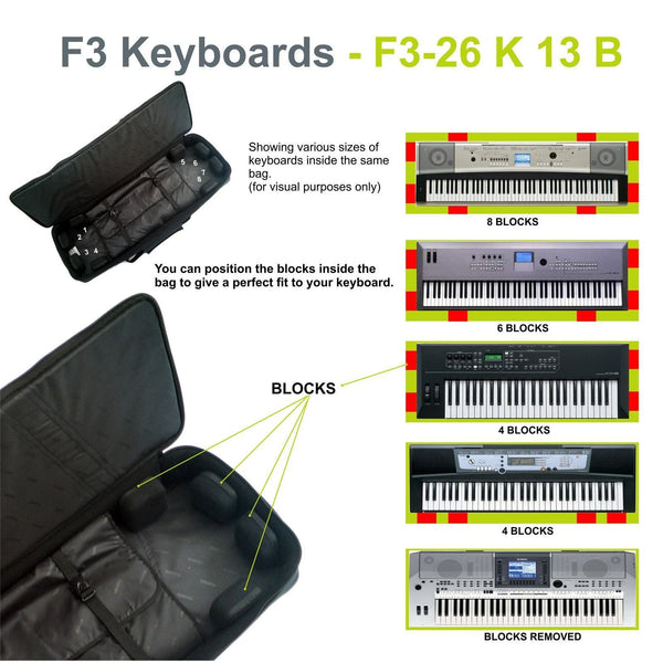 Gig Bag for Keyboard 13 (76-88 keys), Keyboard & Synthesizer gig bags,- Fusion-Bags.com - Keyboard 13 (76-88 keys) Gig Bag - Fusion-Bags.com