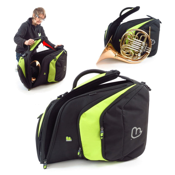 Gig Bag for Premium French Horn Pro (Fixed Bell), Brass Gig Bags,- Fusion-Bags.com - Premium French Horn Pro (Fixed Bell) Bag - Fusion-Bags.com