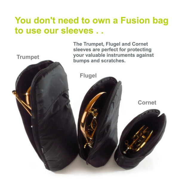 Gig Bag for Trumpet Sleeve, Brass Gig Bags,- Fusion-Bags.com - Trumpet Sleeve - Fusion-Bags.com