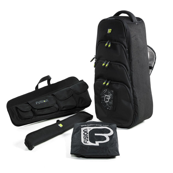 Fusion Bagpipe Case with rain-cover, chanter pouch and accessory panels - Urban Bagpipe Bag - Fusion-Bags.com