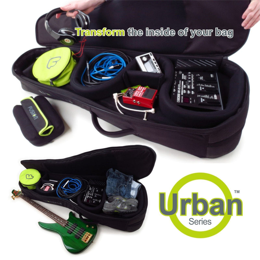 Gig Bag for Urban Double Electric Bass Guitar, Guitar and Bass Bags,- Fusion-Bags.com - Urban Double Electric Bass Guitar Bag - Fusion-Bags.com