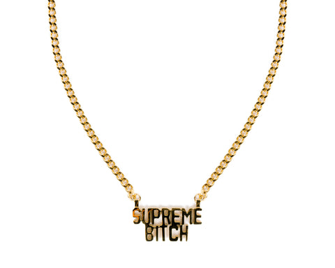 SUPREME BITCH NECKLACE