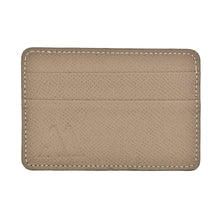 "Load image into Gallery viewer, Textured ""Epsom"" Calfskin Cardholder Etoupe Grey"