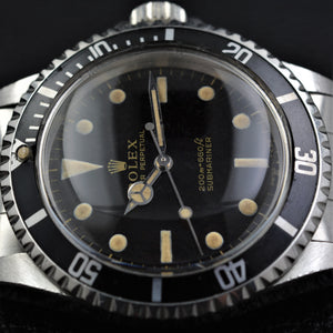 Rolex Submariner 5513 Gilt Dial Full Set - ALMA Watches