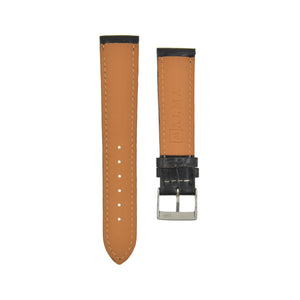 "Silky Shine ""Louisiana"" Alligator Watchstrap Noir Black"
