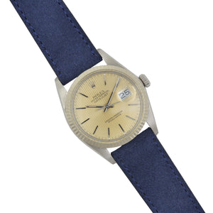 "Silky ""Suede"" Velours Watchstrap Navy Blue"