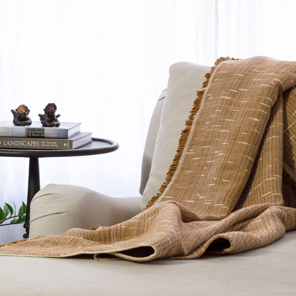 Heavyweight Poyvi Blanket in Caramel