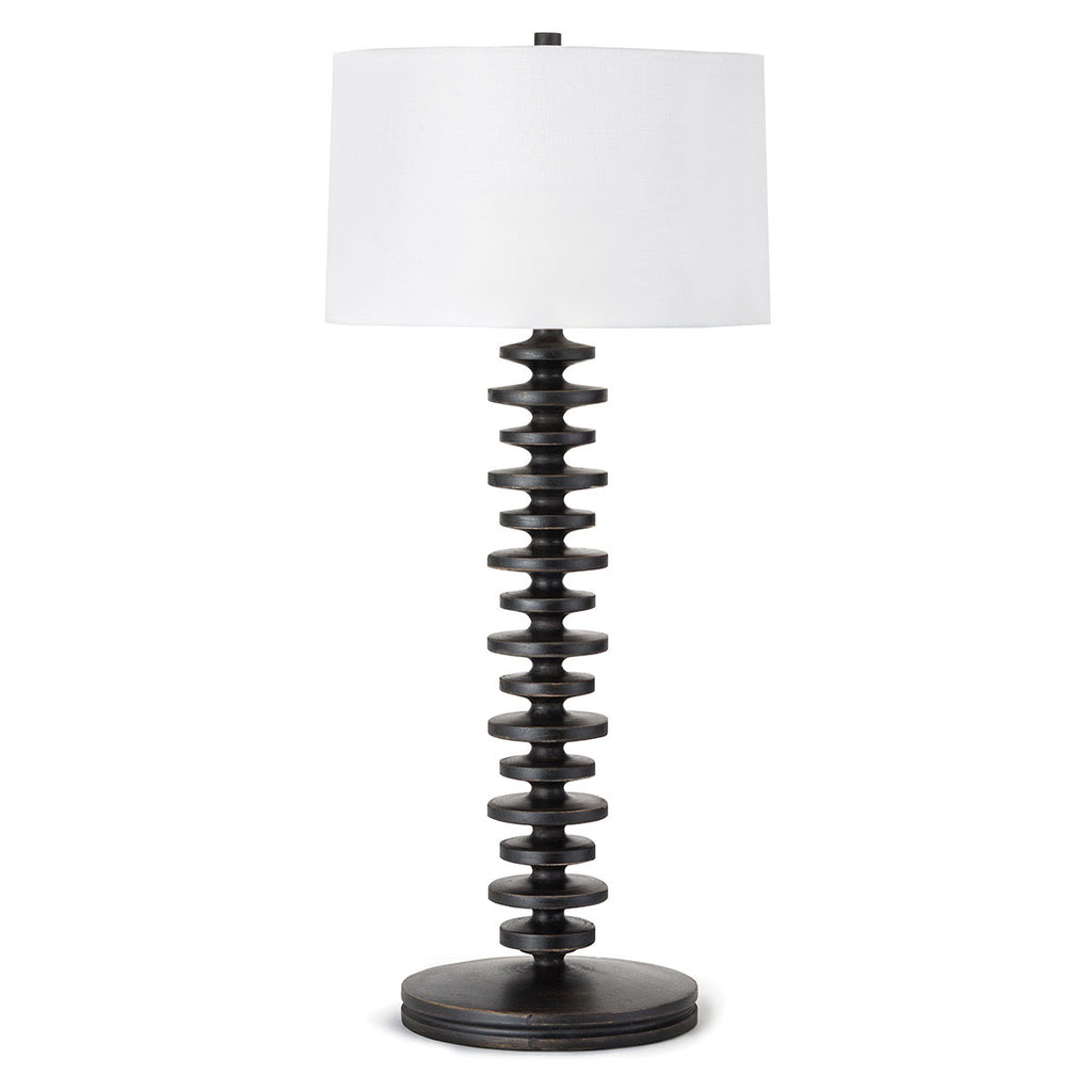 Fishbone Buffet Lamp in Ebony