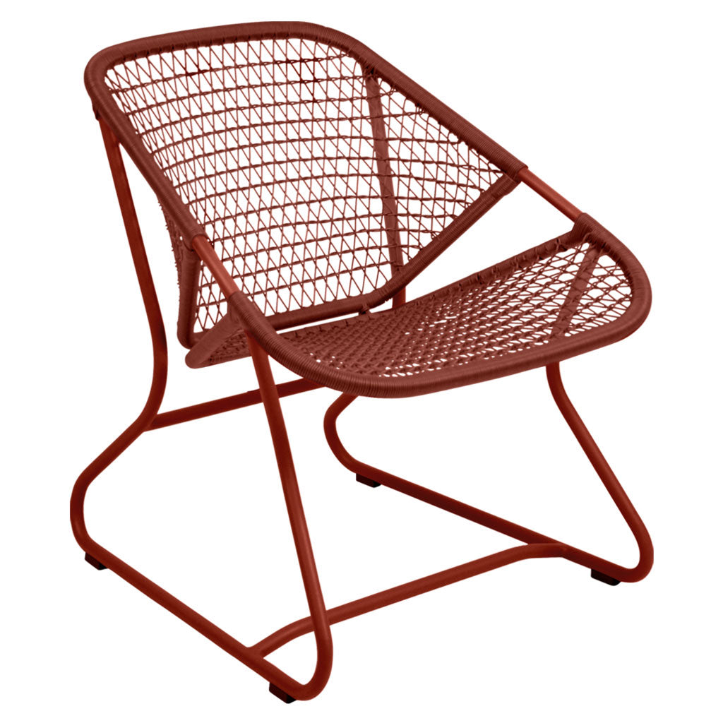 Fermob Sixties Outdoor Low Armchair in Red Ochre