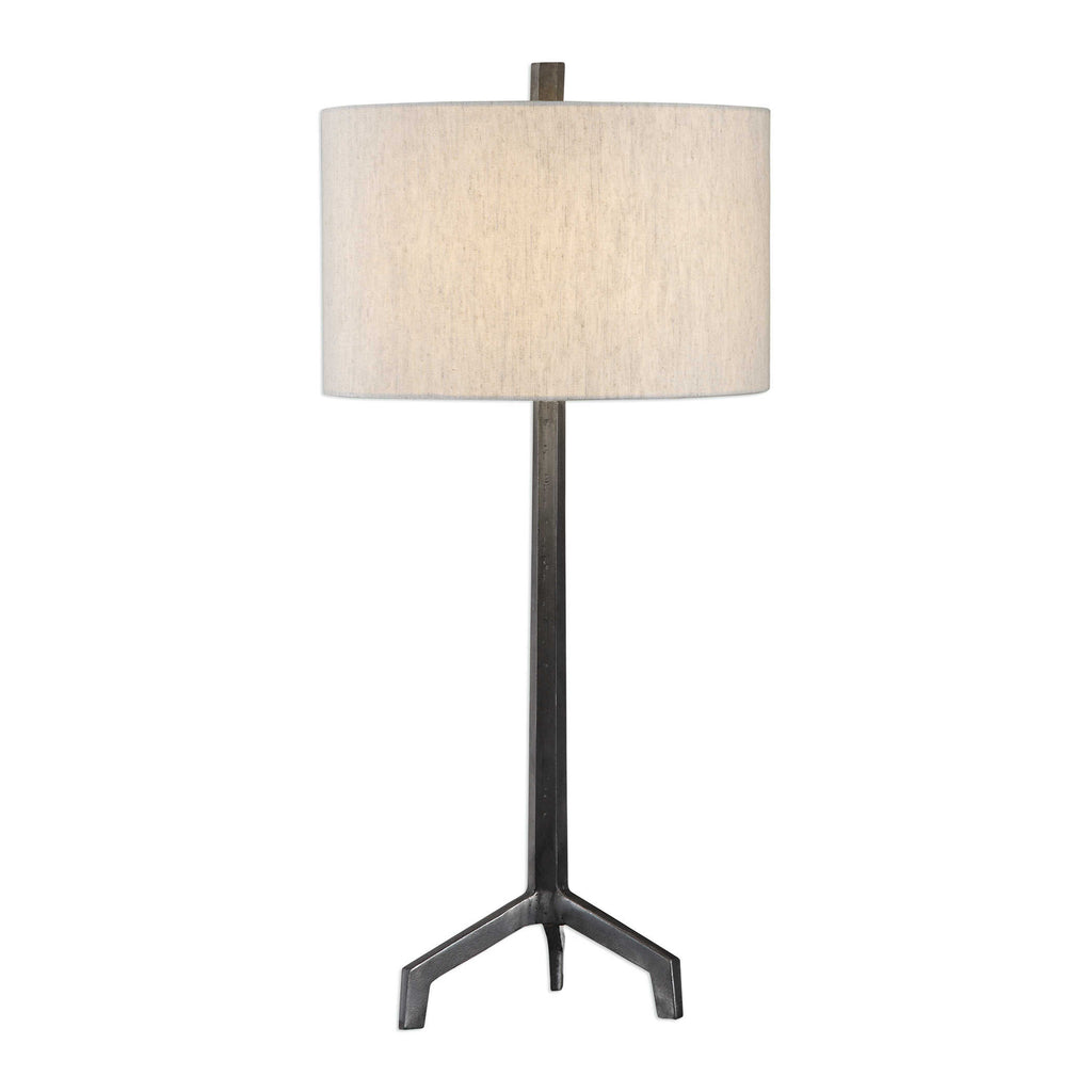 Ivor Raw Steel Table Lamp