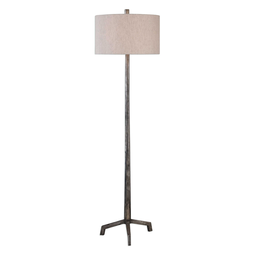 Ivor Raw Steel Floor Lamp