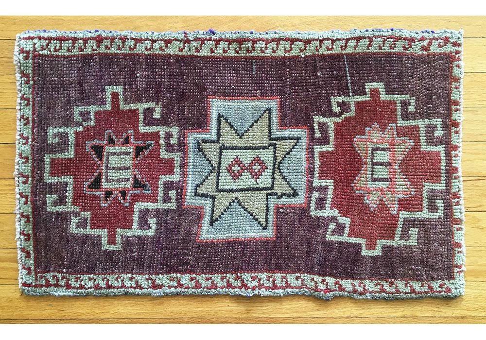 Vintage Oushak Design Prayer Rug, B
