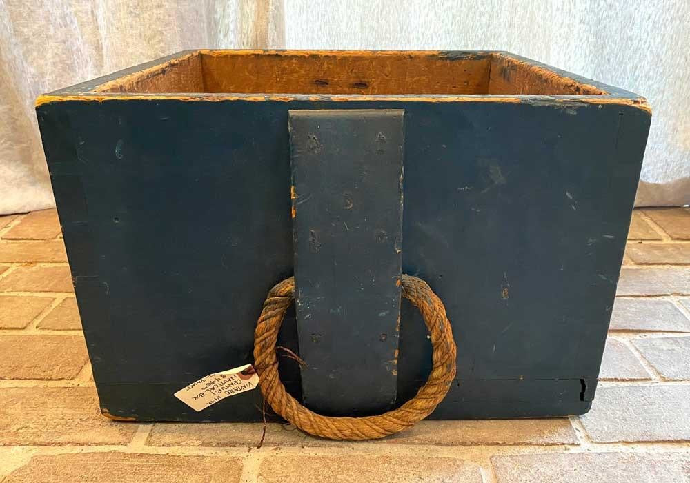 Vintage 19th Century Nautical Box w/ Original Paint