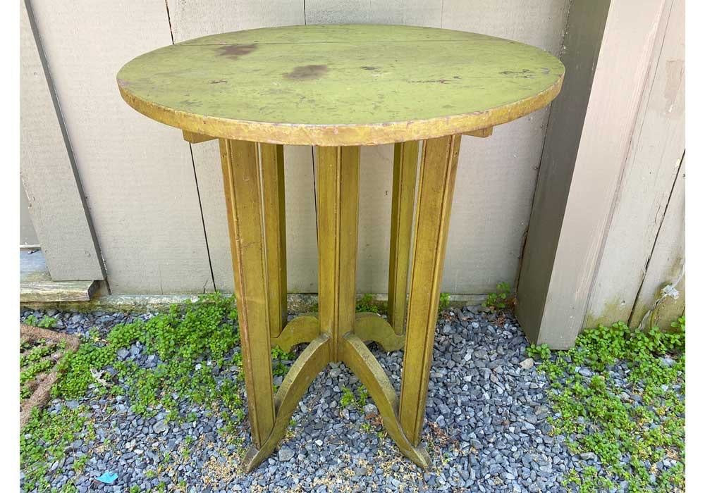 Vintage Green Painted Round Table