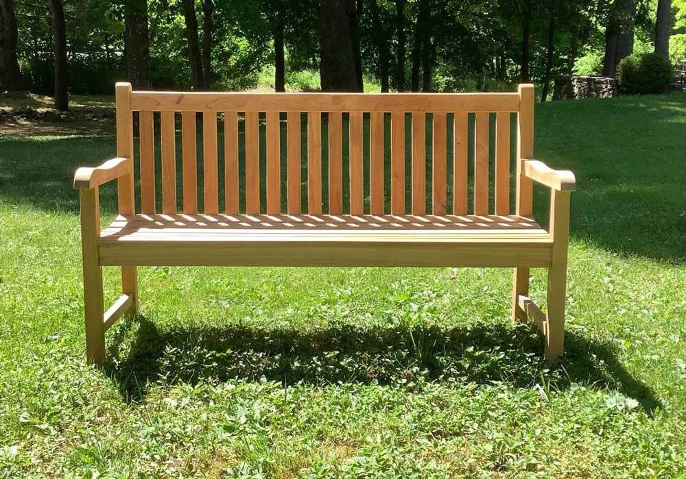 Waterford 5' Teak Bench w/ Back