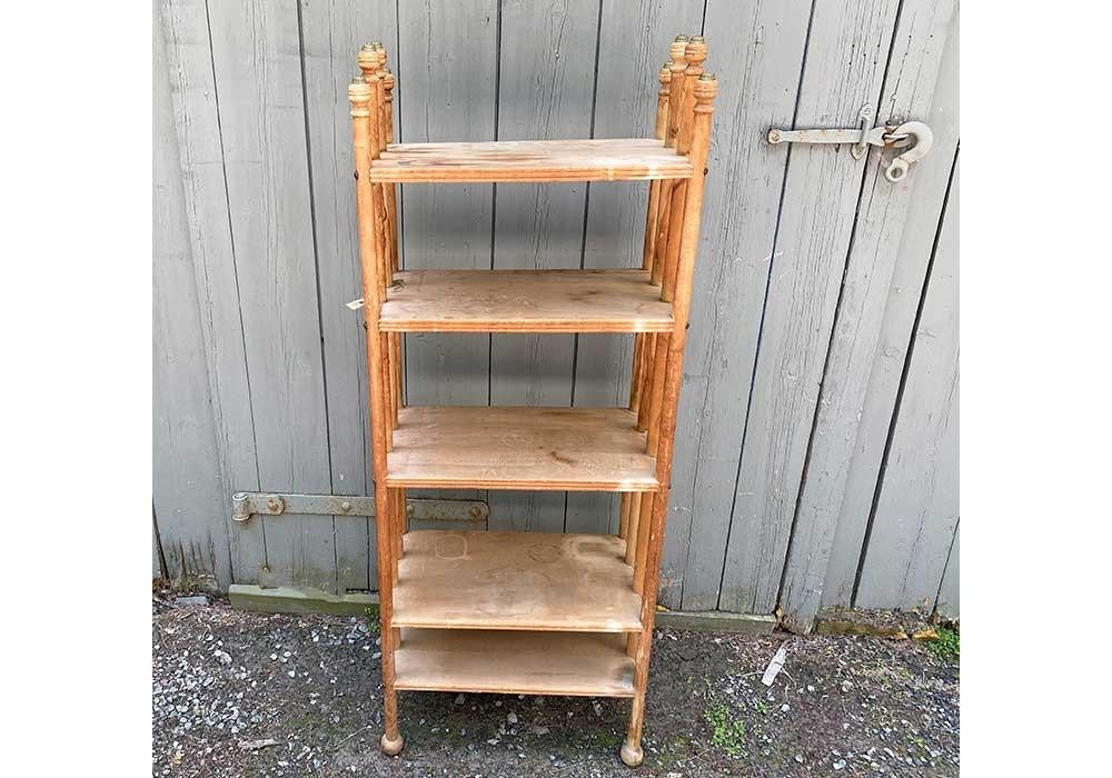 Vintage Bookcase With Finials