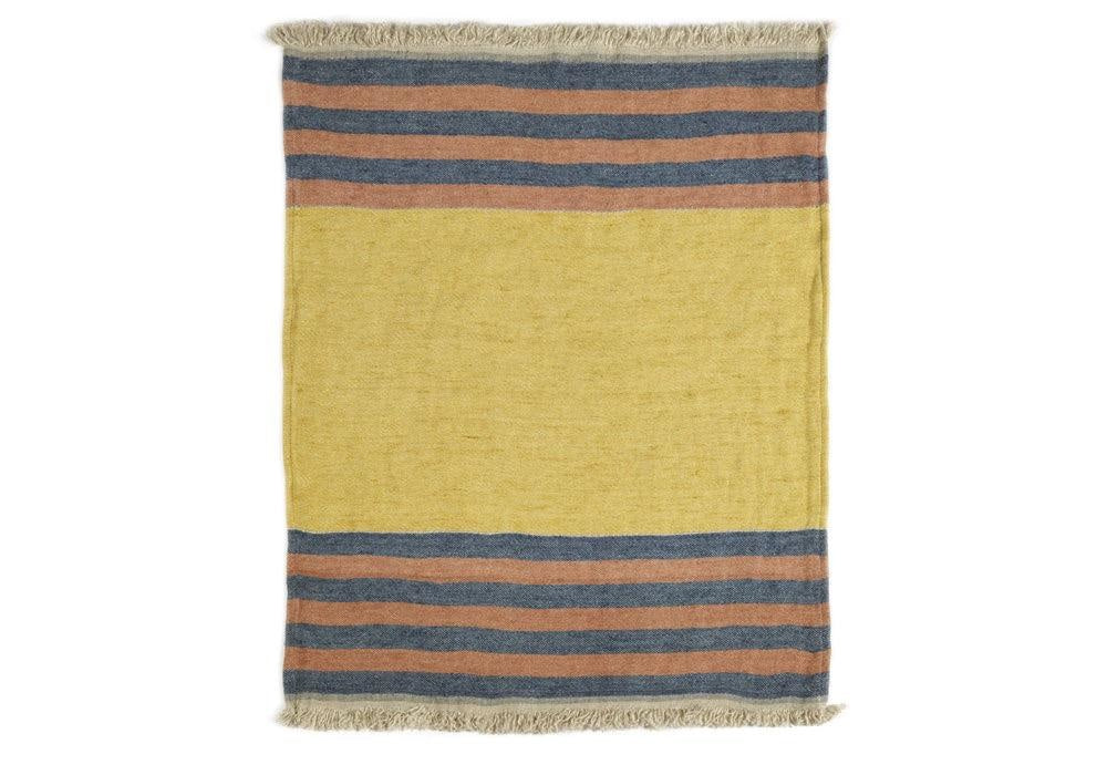 The Belgian Towel Fouta in Red Earth Stripe