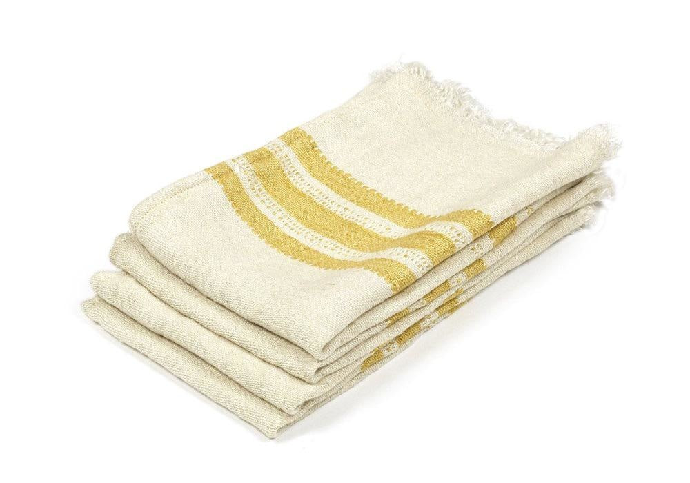 The Belgian Guest Towel in Mustard Stripe, Small