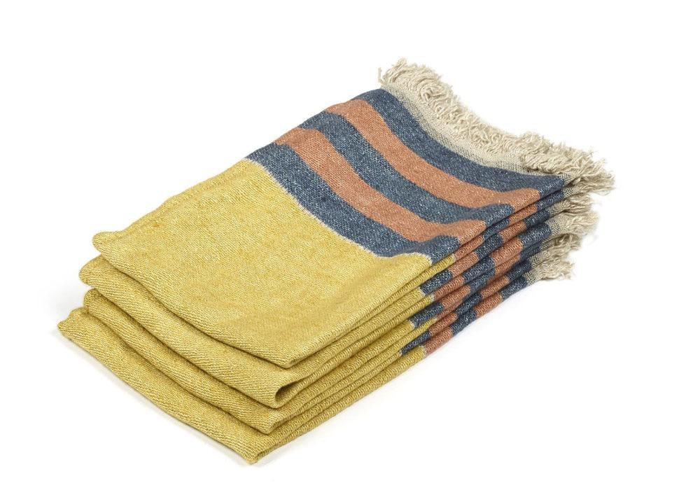 The Belgian Guest Towel in Red Earth Stripe, Small