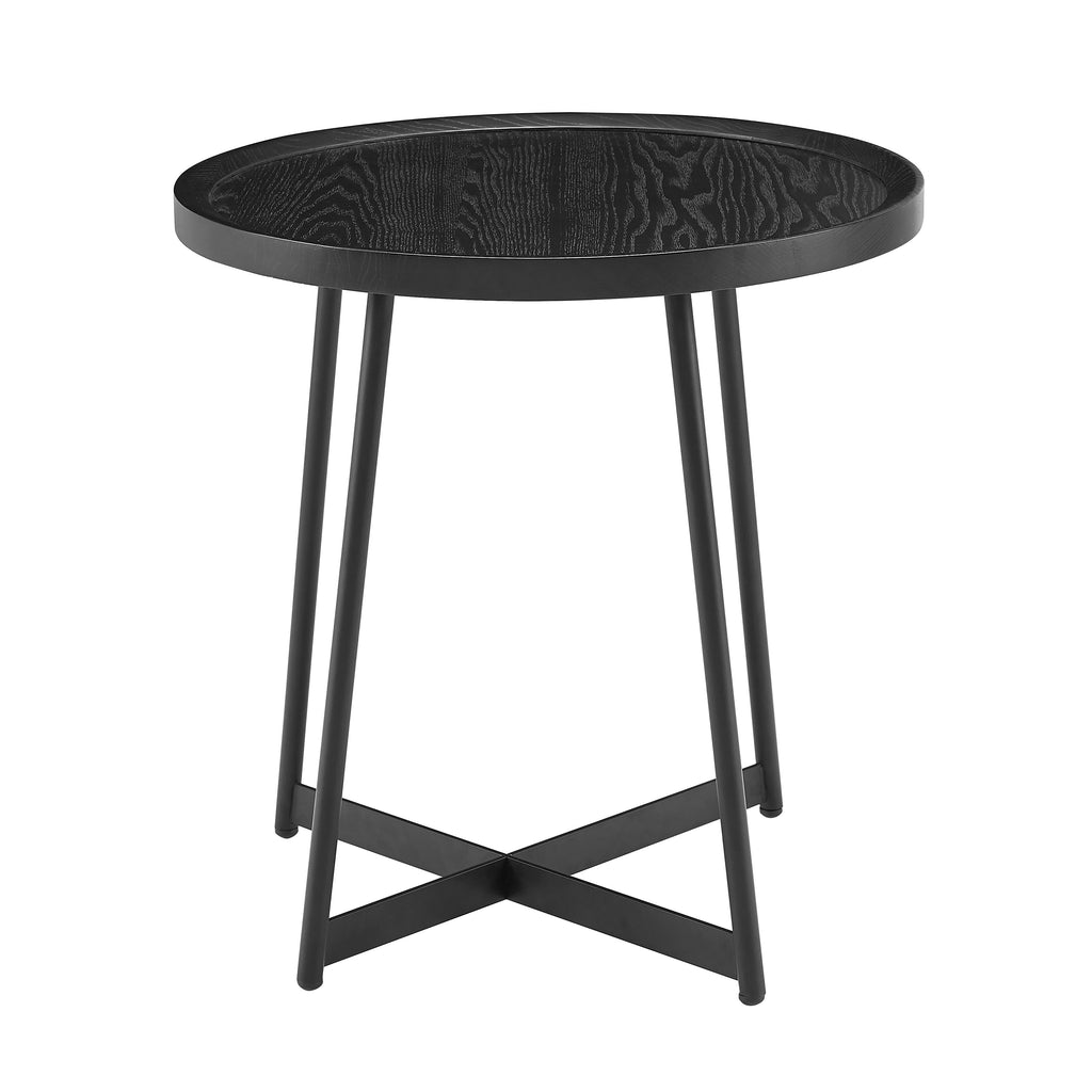 Nicole Side Table in Black Ash