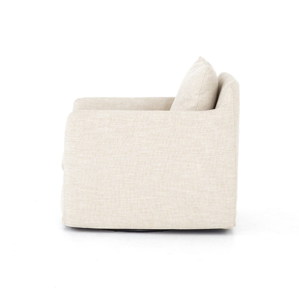 Braxton Swivel Chair in Cambric Ivory