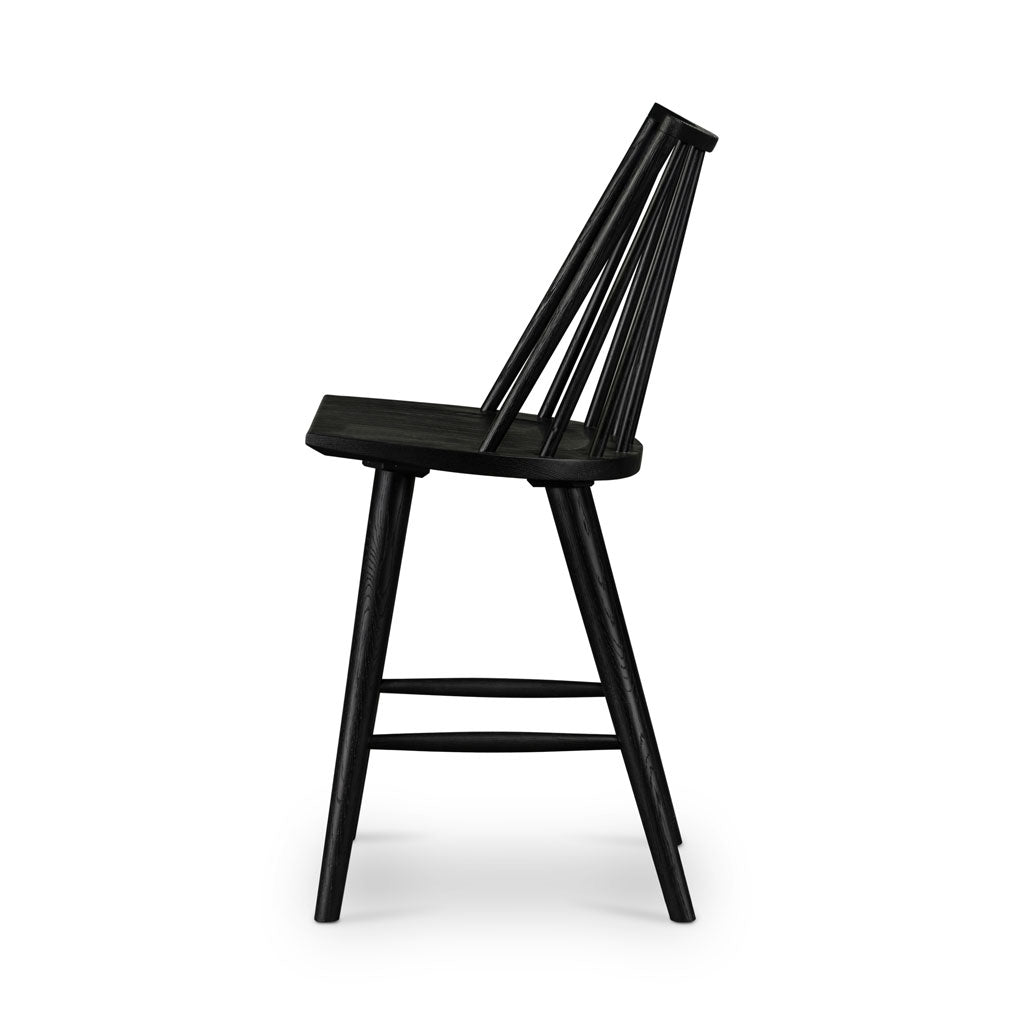 Lewis Windsor Counter Stool in Black Oak