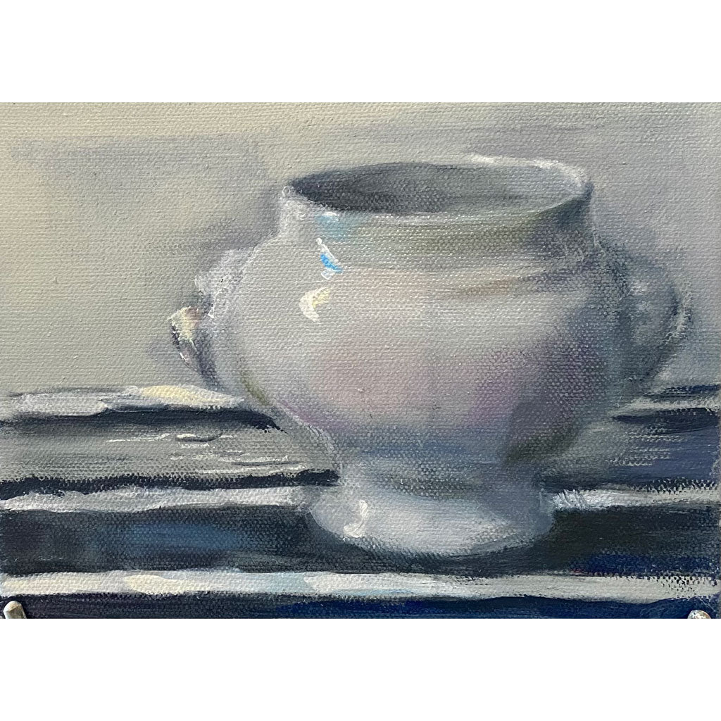 Suzanne Ouellette's French Bowl for Latte Oil Painting