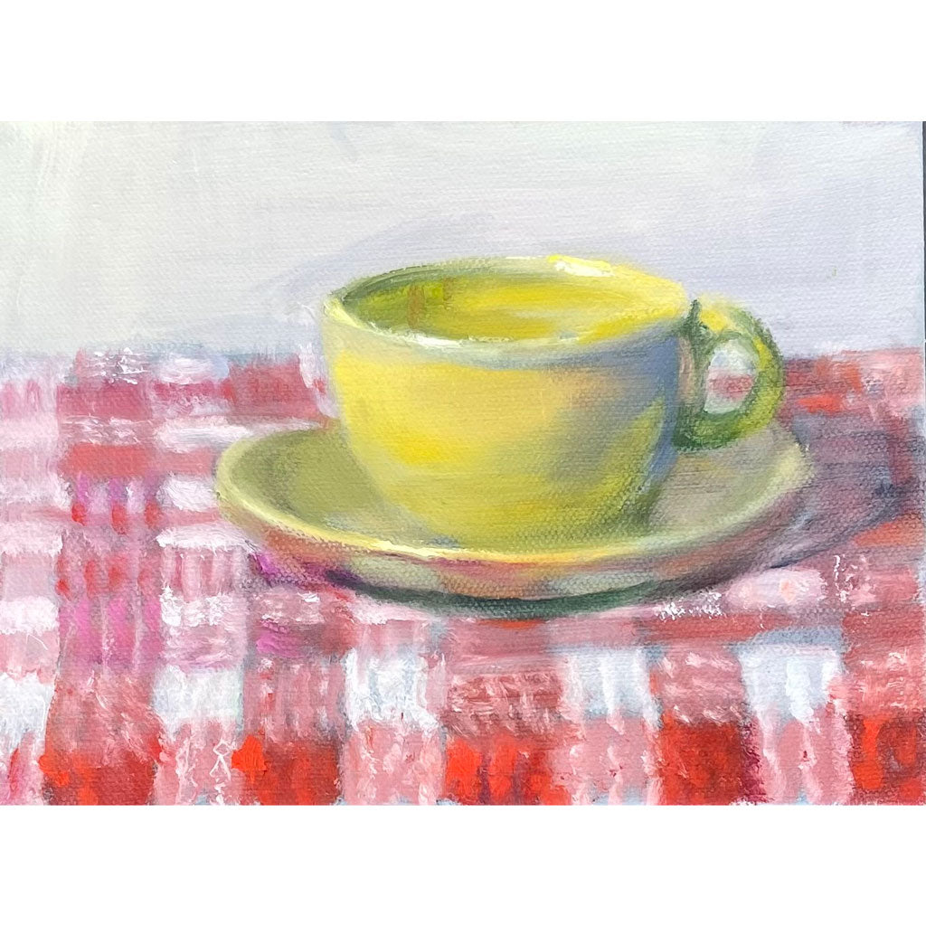 Suzanne Ouellette's Modern American Cup Oil Painting