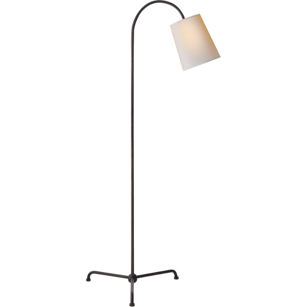 Mia floor Lamp in Aged iron w/ Natural Paper Shade