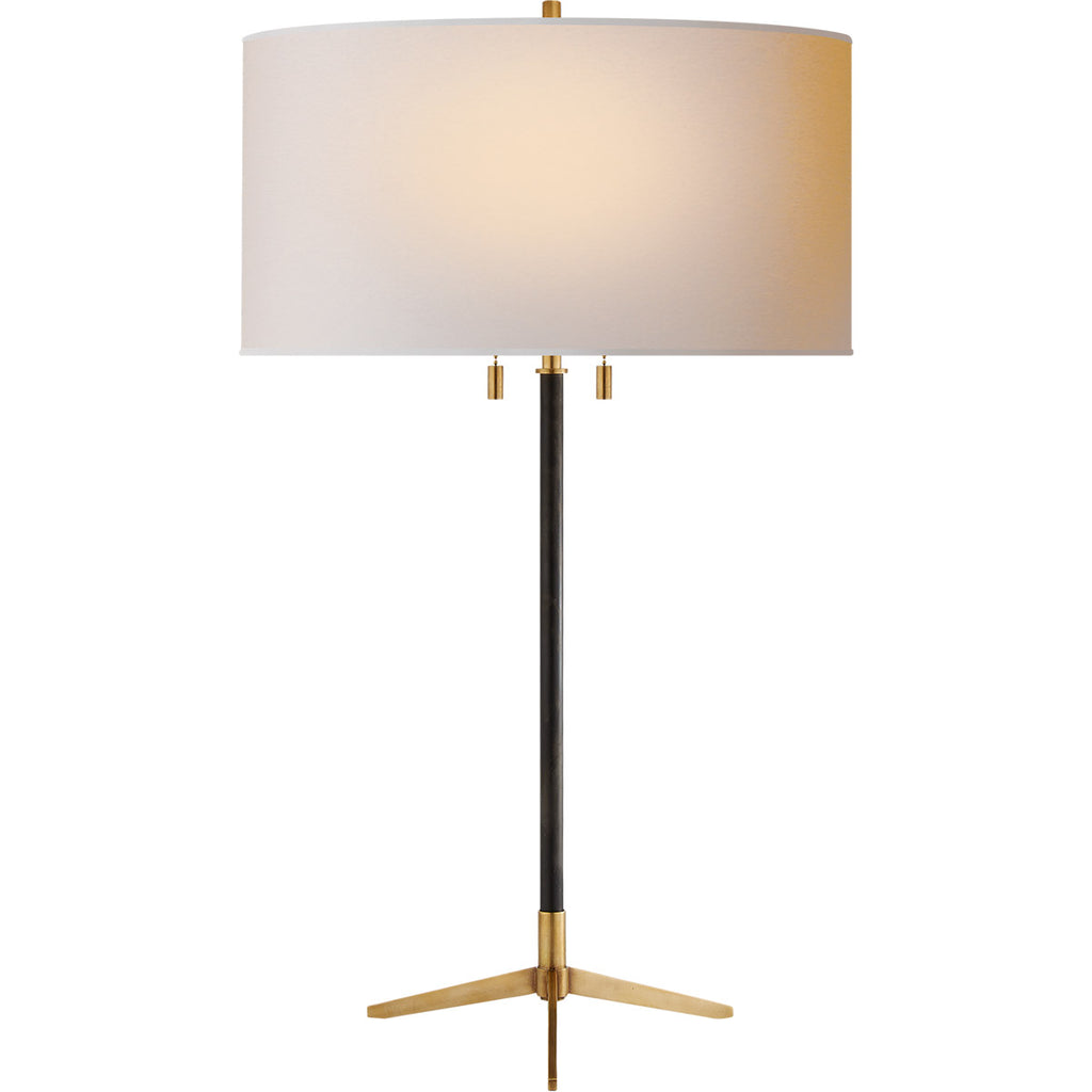 Caron Table Lamp in Bronze with Natural Paper Shade