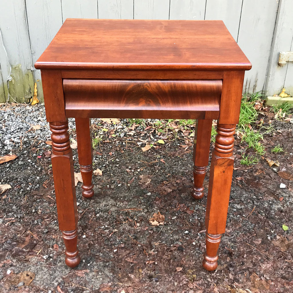Antique Cherry Side Table With Drawer and New York Leg