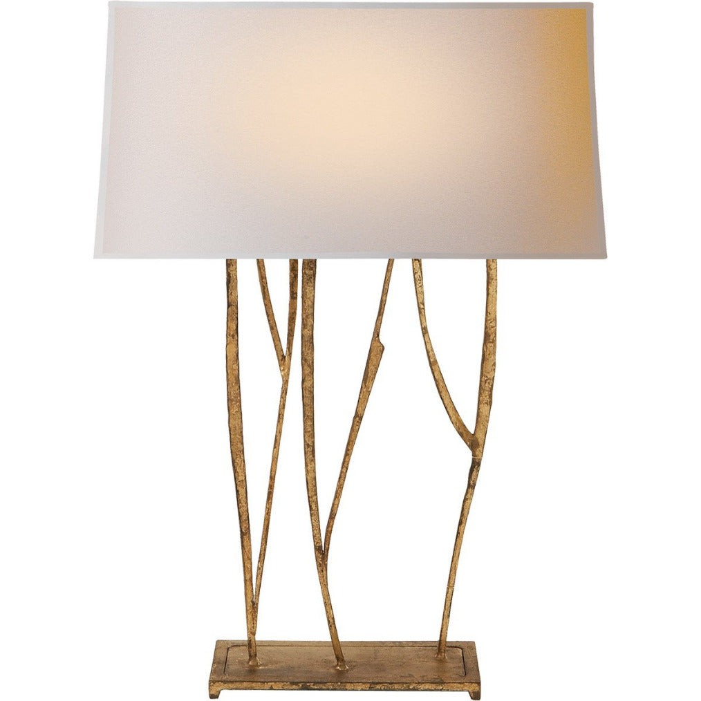 Aspen Table Lamp in Gilded Iron w/ Natural Paper Shade