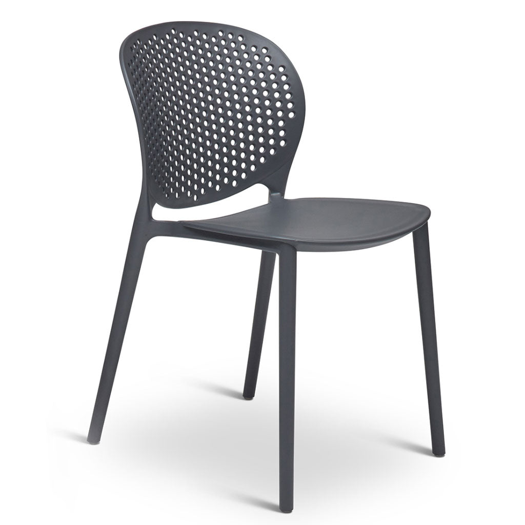 Bailey Indoor/Outdoor Side Chair in Black/Grey