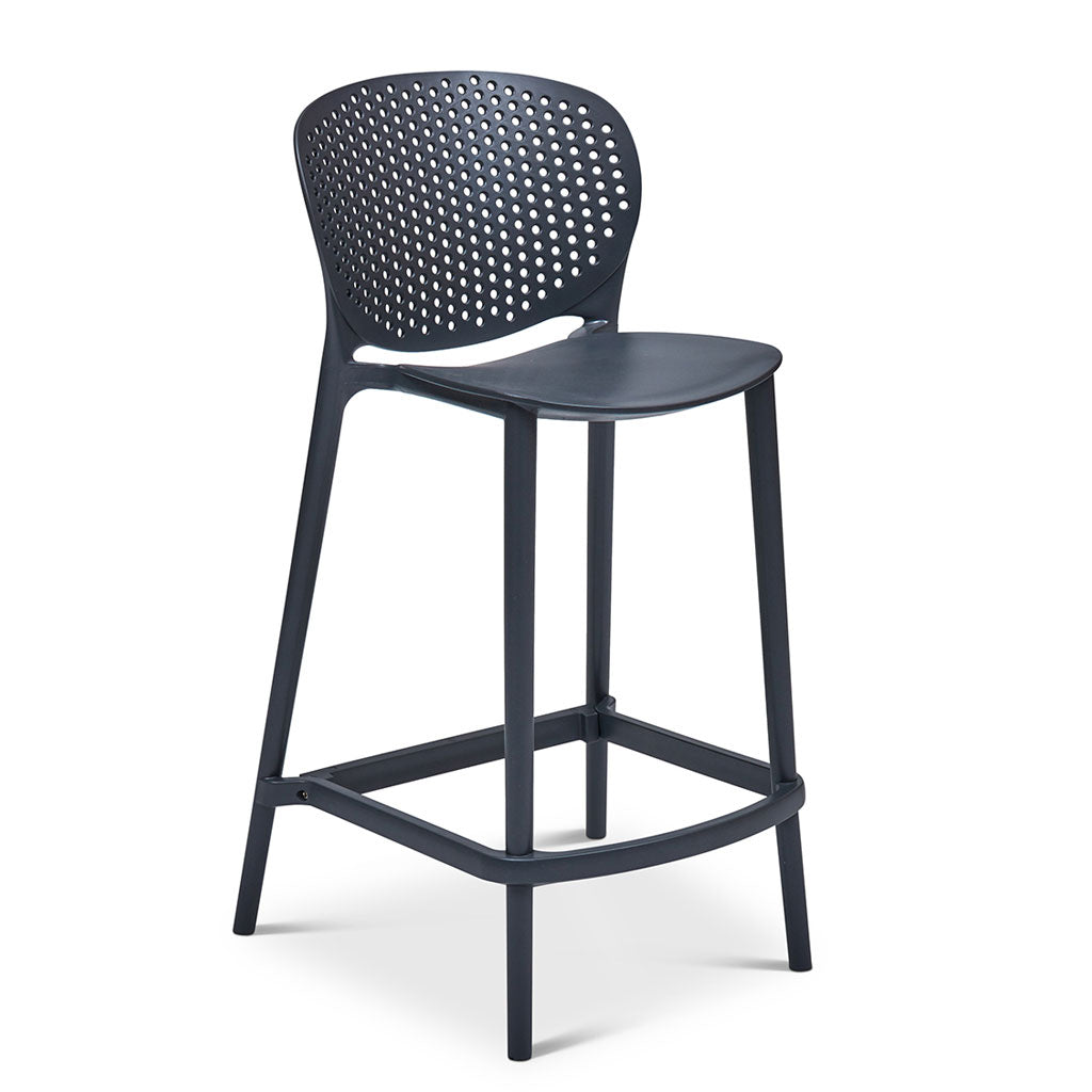 Bailey Indoor/Outdoor Counter Stool in Black and Grey