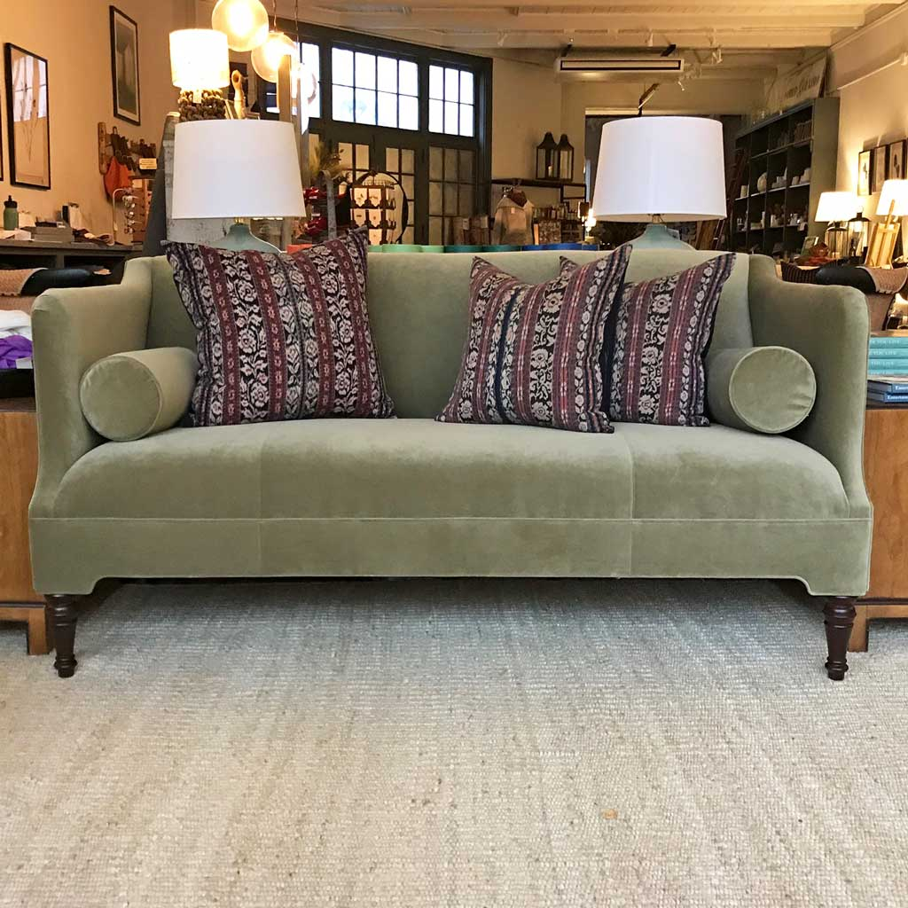 "Bennett 70"" Sofa Upholstered in Boulevard Moss by MGBW"