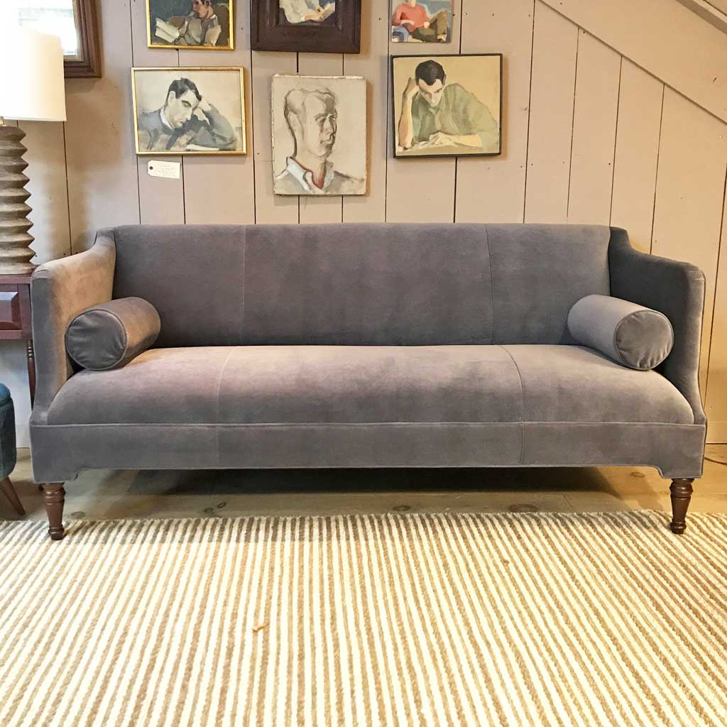 "Bennett 80"" Sofa Upholstered in Boulevard Night by MGBW"