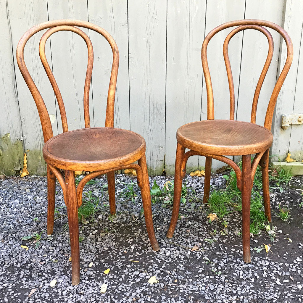 Handsome Pair of Circa 1900 Bentwood Chairs