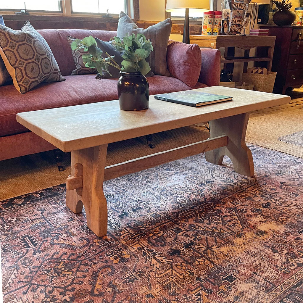Vintage Bleached Oak Coffee Table