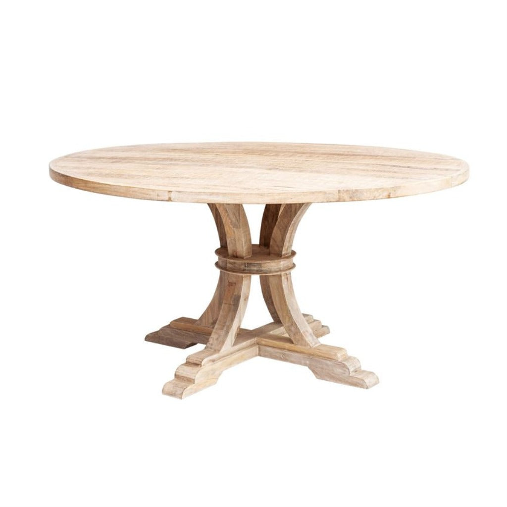 Bleached Mango Wood Round Table