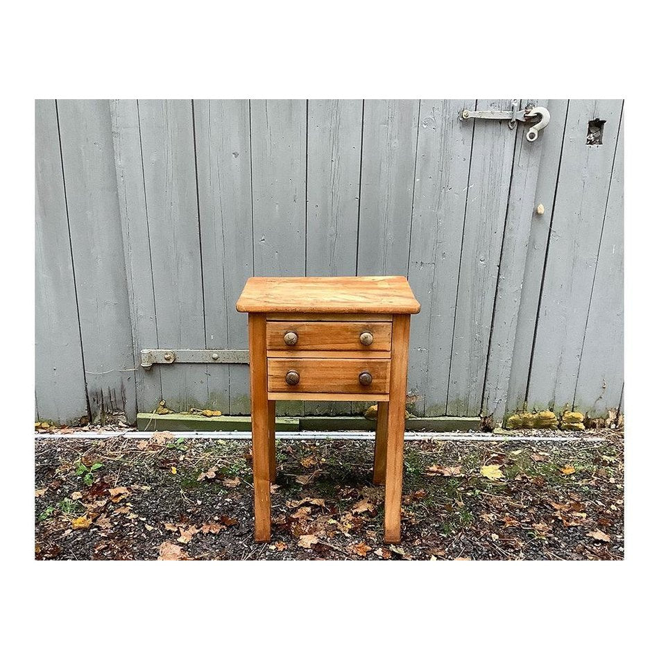 Canadian Pine 2 Drawer Stand Ca. Early 1900's