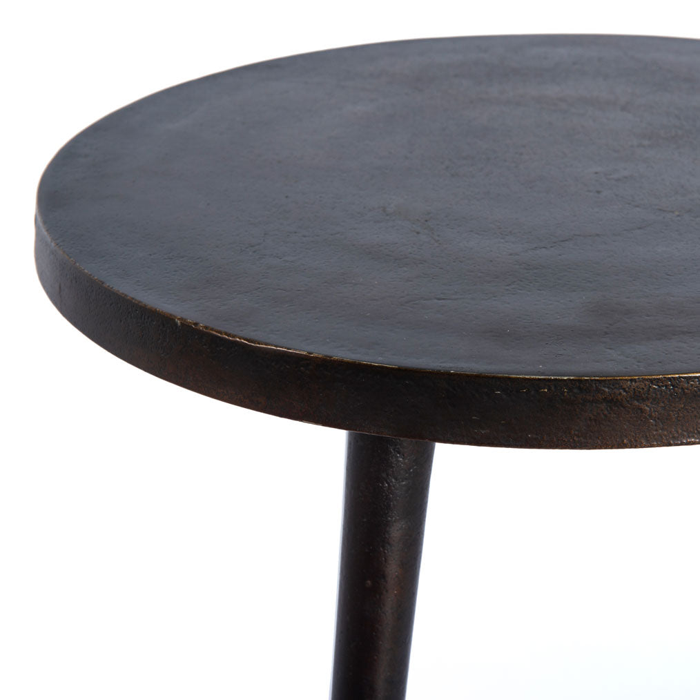 Caspian Tripod End Table in Antique Rust
